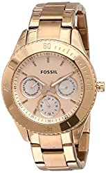 Fossil Stella Analog Rose Gold Dial Women's Watch - ES2859,Fossil,ES2859