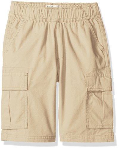 The Children's Place Big Boys' Pull-on Cargo Shorts, Sand Wash, 14