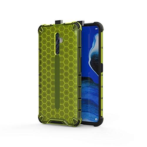 Mingxian For OPPO Reno2 Z a Prueba de Golpes de Nido de Abeja Caja de la PC + TPU (Azul) (Color : Green)