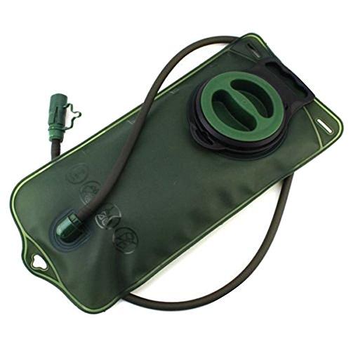 CC * CD 2L Sistema de hidratación bolsa de agua bolsa mochila Camelbak Paquete Senderismo Campamento (verde militar)