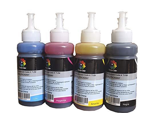 Tinta Generico 4 piezas con para Recarga de impresoras, multifuncionales, Tanques de Tinta L200 L210...