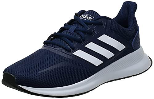 Adidas Falcon Low-Top Trainer, Blau (Dark Blue/Footwear White/Core Black 0), 44 EU