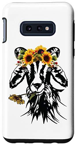 Galaxy S10e Goats Sunflower Bandana Headband - Farm Animal Goat Graphics Case