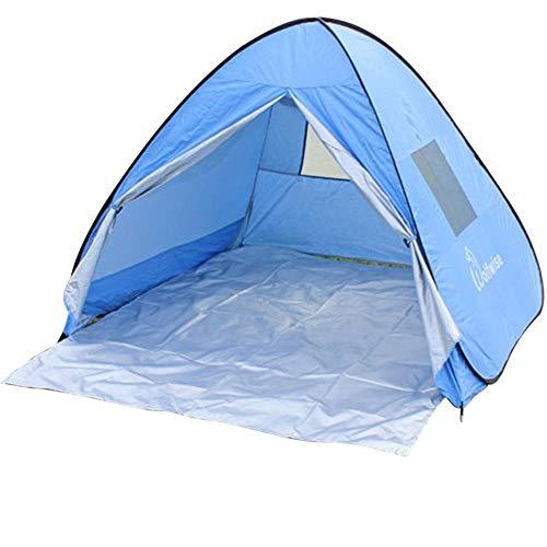 Sonnenschutz-Zelt, UV-Schutz, Pop-Up-Zelt, Sonnenschutz 50+, Strand, Camping, Zelt für Kleinkinder, Freizeitangeln blau
