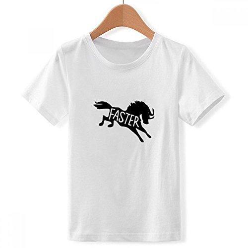 Doe-het-zelf jongens black Horse dier silhouet natuur crew hals wit T-shirt