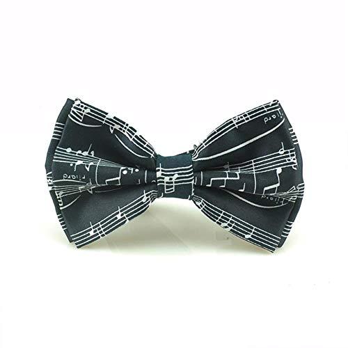 Corbatas de Lazo Corbata de Lazo para Hombres Vestido de Esmoquin Unisex para Hombres Fiesta Moda Comercial Boda Corbata Mariposa Nudo Vestido Formal Regalo, Spectrum Negro