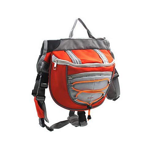 Tangzhan Hunde-Satteltaschen, Wanderausrüstung, Rucksack, leicht, verstellbar, für Outdoor-Aktivitäten, Camping, Reisen, Zubehör für Training, Reisen für große Hunde