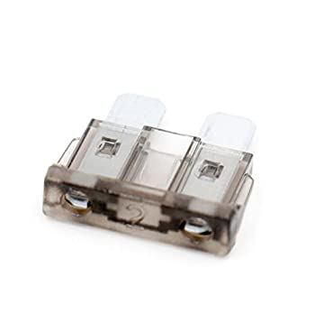 Baomain ATC-2 Grey ATO/ATC 2 Amp Fast-Acting Automotive Blade Fuses - 25 Pack
