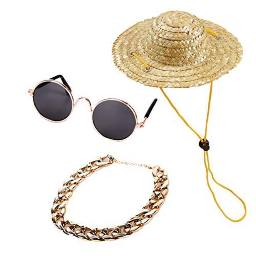 Hawkimin Hunde adidog Haustier Hund Katze Zubehör Sonnenbrille Halskette Set Dekoration Zubehör