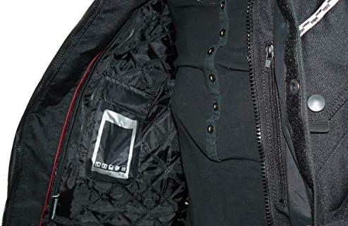 Protectwear Chaqueta de moto chaqueta textil WCJ-101 7XL negro Talla 66