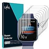 LϟK 8 Pack Protector de Pantalla para Apple Watch Series 7 41MM - HD Flexible Película de TPU Sin Burbujas Sin Bordes Elevados Kit Fácil instalación Anti-Arañazo - iWatch 41mm Series 7
