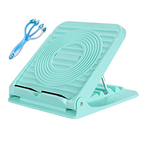 Croing Adjustable Slant Board - Calf Stretch Board - Hamstring Stretcher - Achilles Stretching with 1 Free Massager Roller