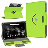 UC-Express Archos 101 Platinum 3G Tablet Hülle Tasche Schutzhülle Case Schutz Cover Drehbar, Farbe:Grün