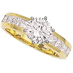 925 Sterling Silver Top Class Simulated Diamonds Fast Posting Quality Guaranteed Free Gift Box