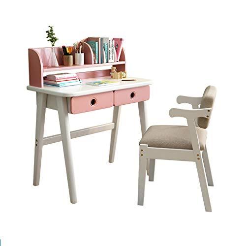 XSN Kinder-Tisch- Und Stuhlset,Kinderarbeitstische Und -stühle, Kinderstudientische,Zwei Schubladen,Kleines Bücherregal Mit Stauraum,Eine Feste Struktur