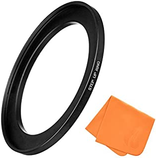 58mm to 72mm Step-Up Lens Adapter Ring for Camera Lenses & Camera Filters, Made of CNC Machined Aluminum with Matte Black Electroplated Finish, Ultra-Slim, Highly Durable Step-Up Ring by Fire Filters