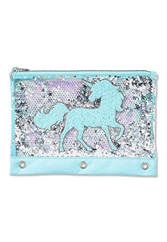 Justice for Girls Unicorn Sequin Shaky Binder Pencil Case Pouch