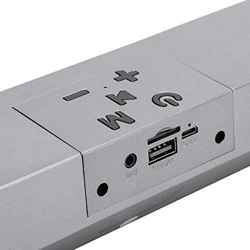 SALALIS Altavoz Bluetooth inalámbrico A7S, Caja de Sonido de subwoofer de Escritorio, Graves adicionales Activos para ajustes de Audio distantes para TWS y Bluetooth V5.0 de 100 pies(Dark Grey)