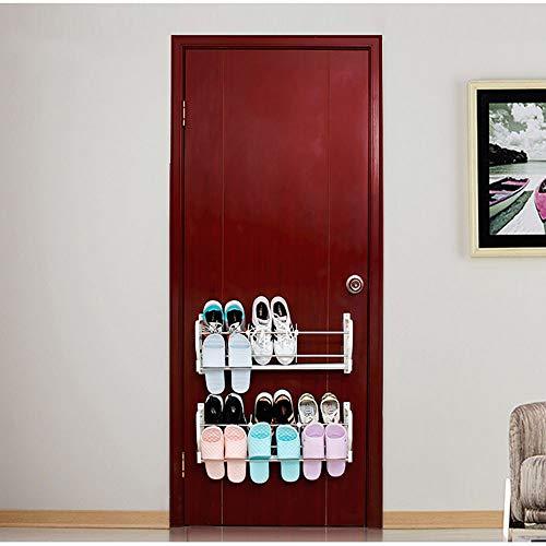Zapato Estante Colgante Detrás De La Puerta, Nail-Libre De Almacenamiento En Rack Zapatillas Colgado En La Pared, Ahorro De Espacio De Almacenamiento En Rack Rack De Hogares Zapatero (2Pack),For iron doors