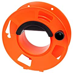 Durability and Safety tested for the toughest situations Designed in the USA with quality materials Used in Tactical, Outdoor, Recreation levels It is 11 inch, Orange, Cord Storage Reel It is Heavy Duty Impact Resistant Plastic Holds Up To 100 foot 1...