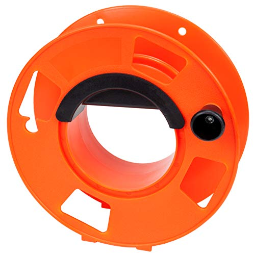 Bayco KW-110 Cord Storage Reel with Center Spin Handle, 100-Feet,Orange