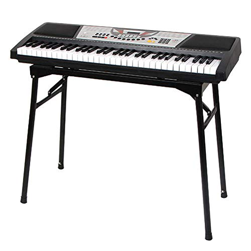 AKOZLIN 折りたたみ式のピアノ キーボードスタンド 61/73/76/88鍵の鍵盤に対応 幅/高さの調整が可能 ピアノ台 電子キーボード用 折畳み式の電子ピアノスタンド 楽器安定し電子オルガン ブラケット Keyboard Stand 幅(73-10