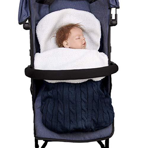 Winter 3 in 1 Kinderwagen Schlafsack Fußsack Stuhlkissen, Winddicht, Wasserdicht, Baby Mädchen Jungen warm Einschlagdecke Babydecke Universal für Babyschale, Autositz,Kinderwagen oder Babybett