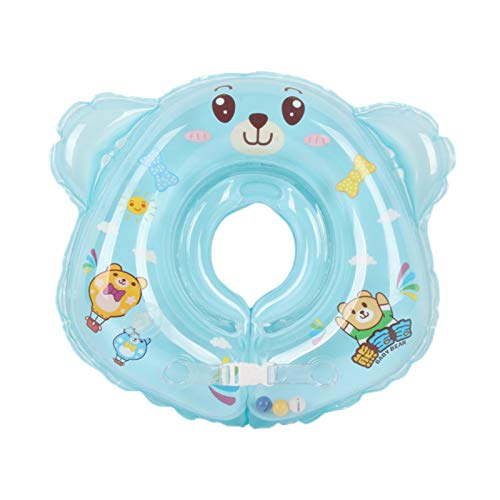 SunniMix Flotadores Inflables de Natación para Bebés en El Entrenador de Cuello, Bañera, Juguete para Piscina para Niños de 6 a 36 Meses - Azul