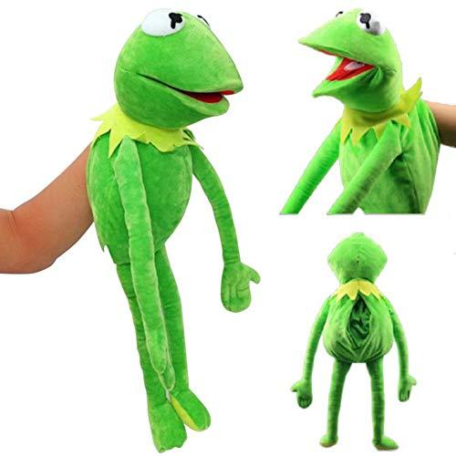ZZQ 60Cm Barrio Sésamo Muppet Show Frog Muppet Muñeco De Peluche Juego De Juguete para Niños Educación Temprana Rompecabezas Regalo De Cumpleaños De Navidad