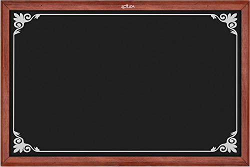 Quadro Negro Standard Decorado 2, 70cm X 50cm, Mad. Pinus Mogno - Souza & Cia (Ref: 2106)
