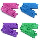 Beaupretty 100 Piezas Separadores de Dedos Esponja Separador de Dedos Espaciador Esponja de Espuma Uñas Arte Manicura Pedicura Herramientas (Color Aleatorio)