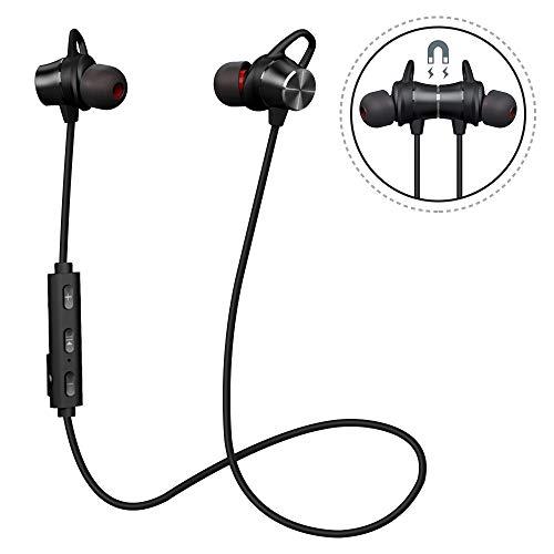 Magnetic Bluetooth Auscultadores Bluetooth com microfone Ultraleve Stereo 4.1, SweatProof, 8 horas de jogo, cancelamento de ruído, Wireless Esporte Earphones