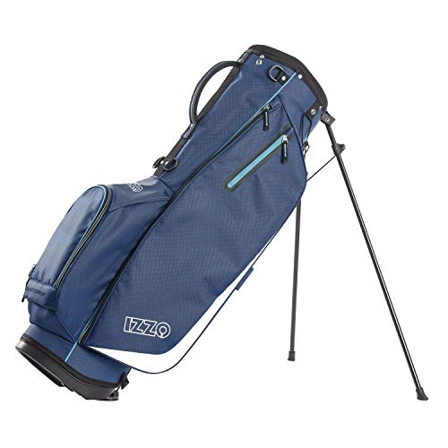 Izzo Golf Ultra-Lite Stand Golf Bag with Dual Straps & Exclusive Features, Navy Blue/Light Blue