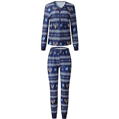 Einsgut Kerstmis pyjama familie pyjama set Print T-Shirt + broek pyjama huis pak moeder vader kind meisje jongen slaapmode