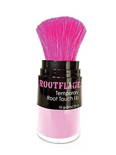 Temporary Pastel Pink Hair Color- Root Touch Up and All Over Hair Color Powder - For Light Hair Only-Fantasy Hair Color, Kabuki Applicator with Detail Brush Included (Cotton Candy Pink)