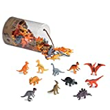 Terra by Battat – Dinosaurs – Assorted Miniature Dinosaur Toy Figures & Cake Toppers For Kids 3+ (60 Pc)