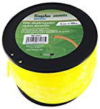 Riegolux 107671 Hilo Desbrozadora Nylon Cuadrada, Amarillo, 4 mm x 100 m