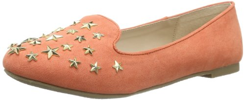Buffalo Girl 118-1 Micro Suede 145870 Damen Slipper, Orange (Coral 01), EU 40