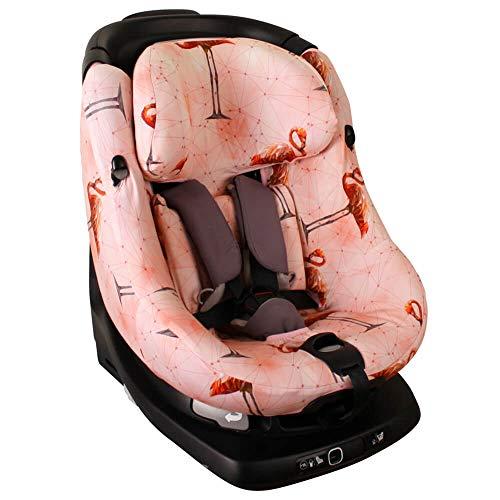 Ukje Bezug Maxi-Cosi AxissFIX Kindersitz Rosa Flamingo Schweißabsorbierend und weich für Ihr Kind Schützt vor Verschleiß und Abnutzung Öko-Tex 100 Baumwolle