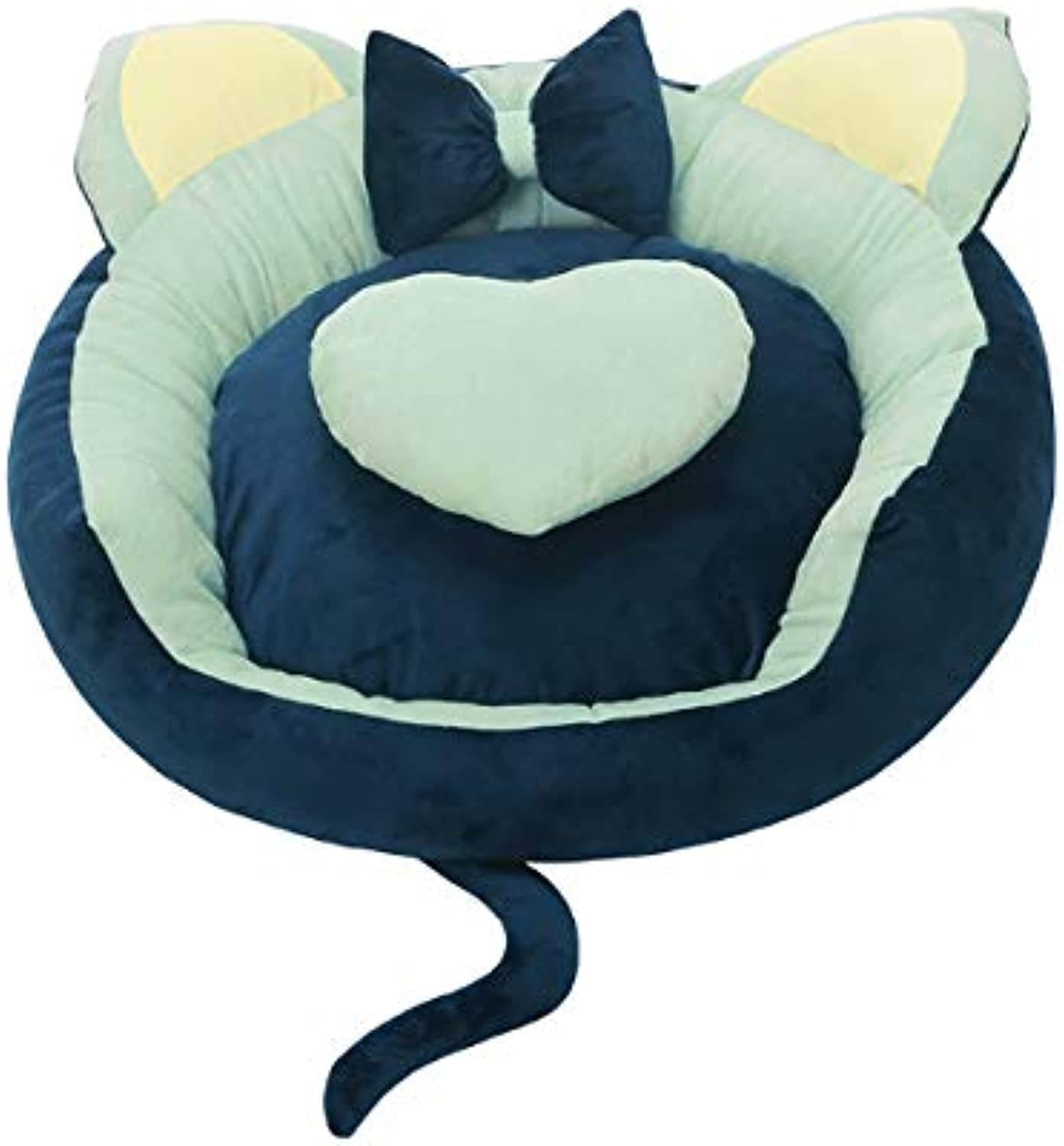 GBJ2 Pet Cat Small Dog Basket Soft Bed Met House 1pcs pack (XL Diameter78cm 30.7in, bluee)