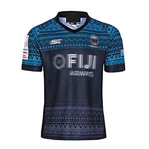 Rugby Jersey 2020 FǐJǐ American Football Jersey World Cup Short-Sleeve Men's Activewear Rugby Suit Men's Rugby Clothing,Soft and Comfortable,Leisure Walking Blue-XL from USSU0001147
