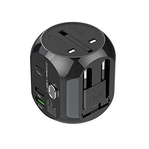 HAJZF Adaptador De Corriente De Viaje Internacional, Cargador USB Dual De Carga...