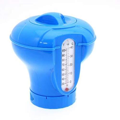 Waech - Dosificador de pastillas de cloro para piscina y spa (no contiene pastillas de cloro (dosificador con termómetro)