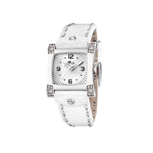 Lotus 15640/1 - Reloj de Mujer de Cuarzo, Correa de Piel Color Blanco