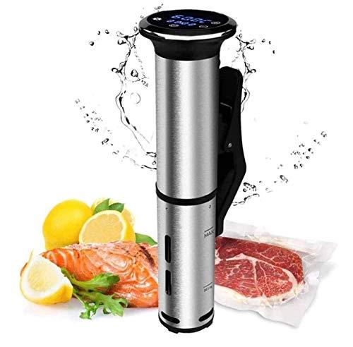 SMSOM Sous Vide, Cocina de precisión de 1200W, circulador de inmersión con componentes de Acero Inoxidable, Interfaz Digital, Temperatura y Temporizador para la Cocina