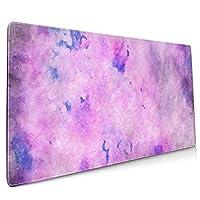 マウスパッド 大型 背景 古ぶり 紫 水彩画 簡潔 背景 葉書ゲーミング デスクマット かわいい 防水性 耐久性 滑り止め 多機能 超大判 40cm×90cm おしゃれ