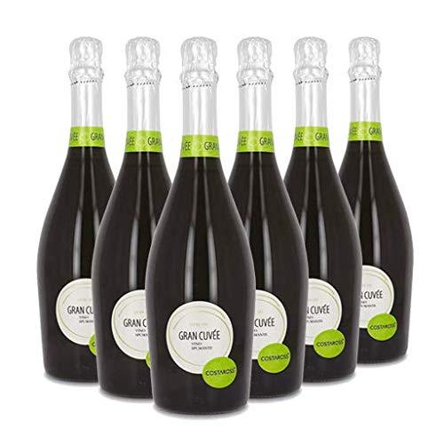 COSTAROSS Gran Cuvée Extra Dry, Spumante Naturale, Ottimo come Aperitivo e per la Preparazione di Cocktail come l\'Aperol Spritz e l\'Hugo, 6 x 750 ml, Made in Italy, 11{19614ad0f0a5bb38a07d5d6a655ecb97e95c0fed38e8cf30977529850adf9646} Vol