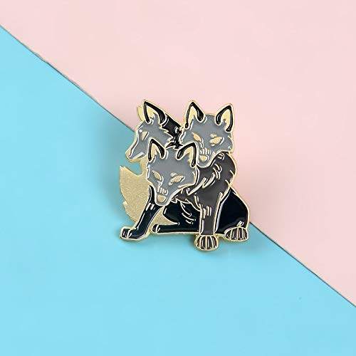 Cerberus Pins Ancient Greek mythology Brooches Badges Metal Button Hard Enamel Pins Gifts for Friends Jewelry
