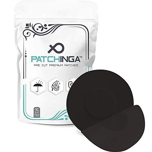 PATCHINGA | Freestyle Libre 1 & 2 Pflaster | 25er Pack | Kleberfreie Mitte | CGM Patch | Fixierband für Ihren Sensor | Selbstklebend | Wasserfest | Hautfreundlich - Erhältlich in 4 Farben (schwarz)