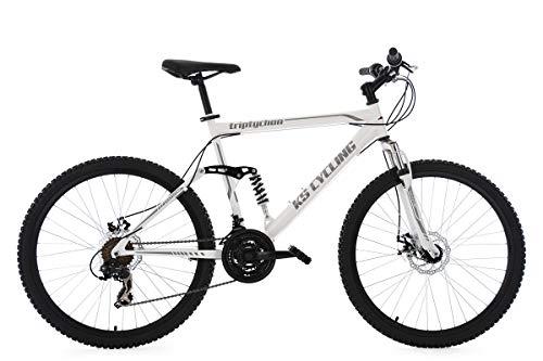 KS Cycling Mountainbike MTB Fully Triptychon 26'' weiß RH 51 cm